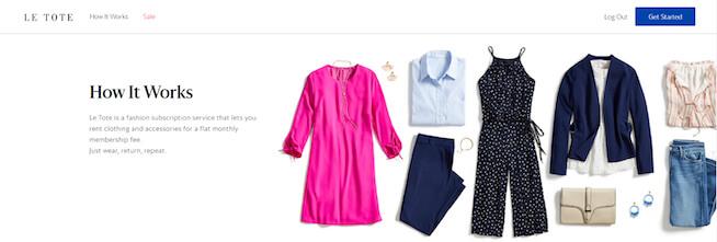 letote(アメリカのファッションレンタルサービス)